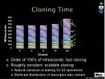 cloning time