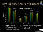raw application performance