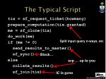 the typical script