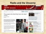 radio and the uncanny