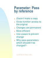 parameter pass by reference