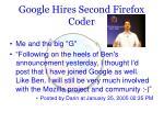 google hires second firefox coder