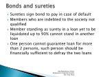 bonds and sureties