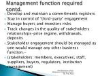 management function required contd