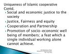 uniqueness of islamic cooperative contd