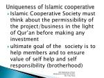 uniqueness of islamic cooperative