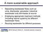 a more sustainable approach