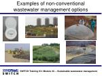 examples of non conventional wastewater management options