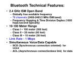 bluetooth technical features