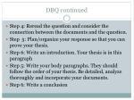 dbq continued