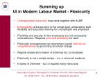 summing up ui in modern labour market flexicurity