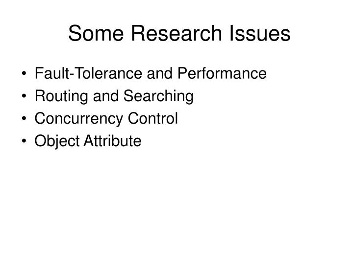 some research issues n.