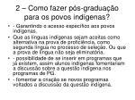 2 como fazer p s gradua o para os povos ind genas