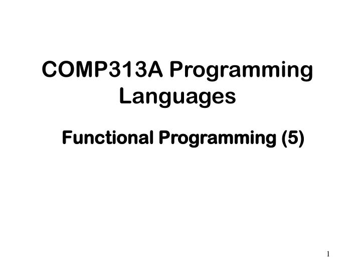 comp313a programming languages n.
