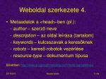 weboldal szerkezete 4