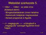 weboldal szerkezete 5