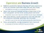 experience and business growth