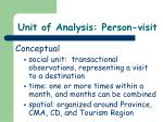 unit of analysis person visit