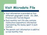 visit microdata file1