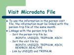 visit microdata file2