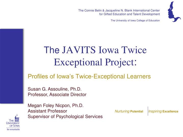 the javits iowa twice exceptional project n.