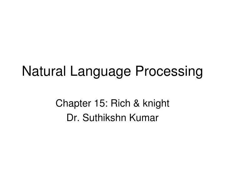 natural language processing n.
