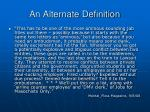 an alternate definition