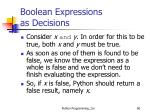 boolean expressions as decisions6