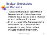 boolean expressions as decisions8