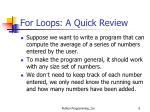 for loops a quick review1