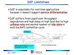 dcf limitations