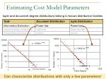 estimating cost model parameters