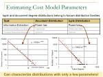 estimating cost model parameters
