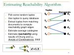 estimating reachability algorithm