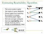 estimating reachability algorithm