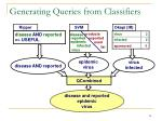 generating queries from classifiers