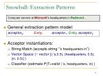 snowball extraction patterns