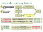 snowball generating patterns