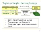 tuples a simple querying strategy