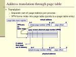 address translation through page table