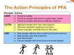 the action principles of pfa