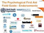 the psychological first aid field guide endorsements