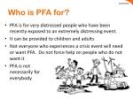 who is pfa for