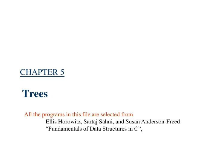 chapter 5 trees n.