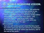 10 world missions vision