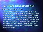 2 true discipleship