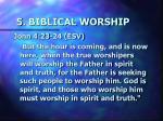 5 biblical worship