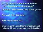 5 the church s wonderful power of spontaneous expansion1