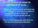7 the model as seen in the book of acts