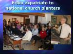 from expatriate to national church planters1